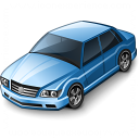 Car Sedan Blue Icon 128x128