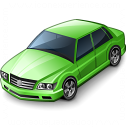 Car Sedan Green Icon 128x128