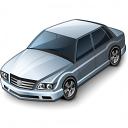 Car Sedan Grey Icon 128x128