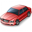 Car Sedan Red Icon 128x128