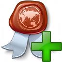 Certificate Add Icon 128x128
