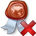 Certificate Delete Icon 128x128