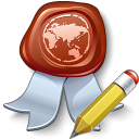 Certificate Edit Icon 128x128