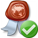 Certificate Ok Icon 128x128