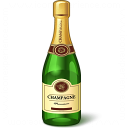 Champagne Bottle Icon 128x128