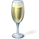 Champagne Glass Icon 128x128