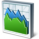 Chart Area Icon 128x128