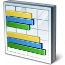 Chart Bar Icon 128x128