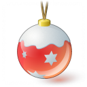 Christmas Ball Red Icon 128x128