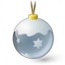 Christmas Ball Silver Icon 128x128