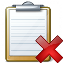 Clipboard Delete Icon 128x128
