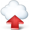 Cloud Computing Upload Icon 128x128