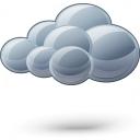 Cloud Dark Icon 128x128
