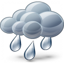 Cloud Rain Icon 128x128