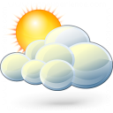 Cloud Sun Icon 128x128