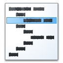 Code Line Icon 128x128