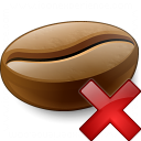 Coffee Bean Delete Icon 128x128