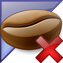 Coffee Bean Enterprise Delete Icon 128x128