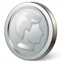 Coin Silver Icon 128x128