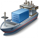 Containership Icon 128x128