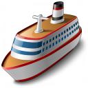 Cruise Ship Icon 128x128