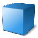 Cube Blue Icon 128x128