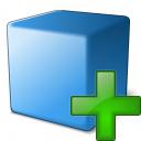 Cube Blue Add Icon 128x128