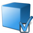 Cube Blue Preferences Icon 128x128