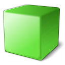 Cube Green Icon 128x128
