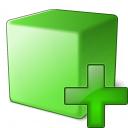 Cube Green Add Icon 128x128