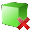Cube Green Delete Icon 128x128