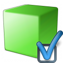 Cube Green Preferences Icon 128x128