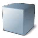 Cube Grey Icon 128x128