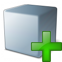 Cube Grey Add Icon 128x128