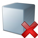 Cube Grey Delete Icon 128x128