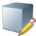 Cube Grey Edit Icon 128x128