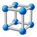 Cube Molecule Icon 128x128