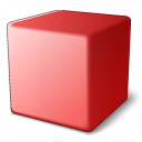 Cube Red Icon 128x128