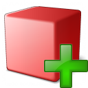 Cube Red Add Icon 128x128