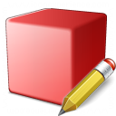 Cube Red Edit Icon 128x128