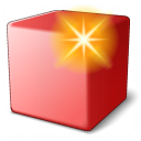 Cube Red New Icon 128x128