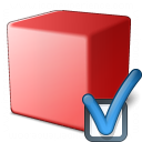 Cube Red Preferences Icon 128x128