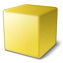 Cube Yellow Icon 128x128