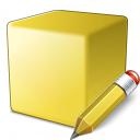 Cube Yellow Edit Icon 128x128