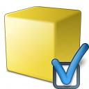Cube Yellow Preferences Icon 128x128