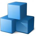 Cubes Blue Icon 128x128