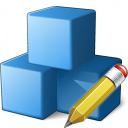 Cubes Blue Edit Icon 128x128