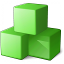 Cubes Green Icon 128x128