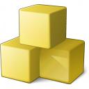 Cubes Yellow Icon 128x128