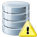 Data Warning Icon 128x128